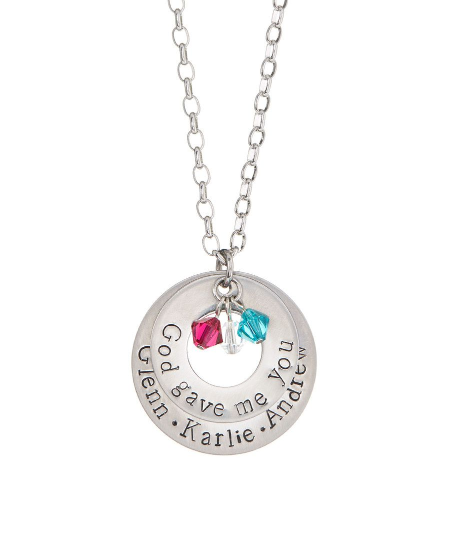 Look at this Pebbles Jones Swarovski® Crystal & Stainless Steel 'God' Pendant Necklace on #zulily today!