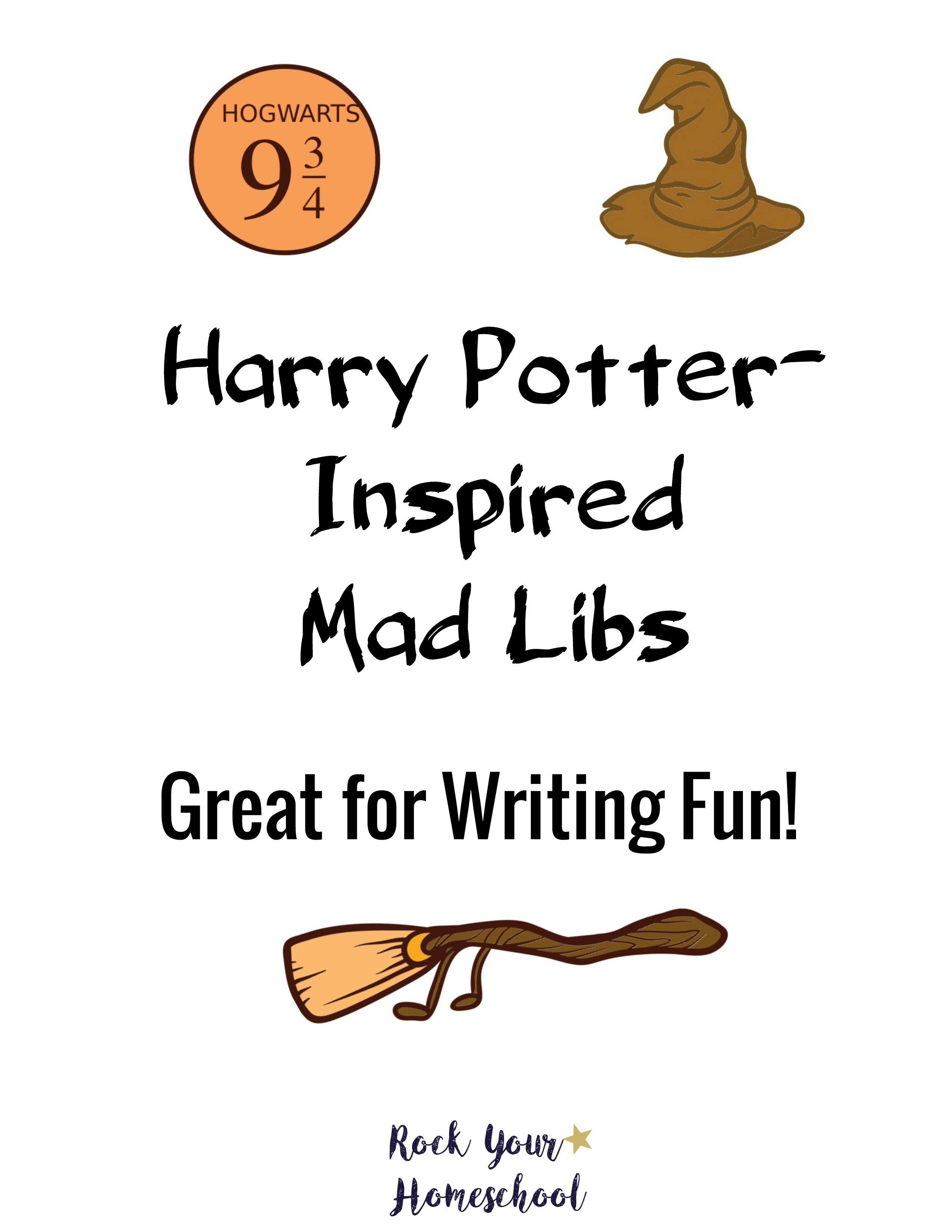 Harry Potter Inspired Mad Libs Writing Fun