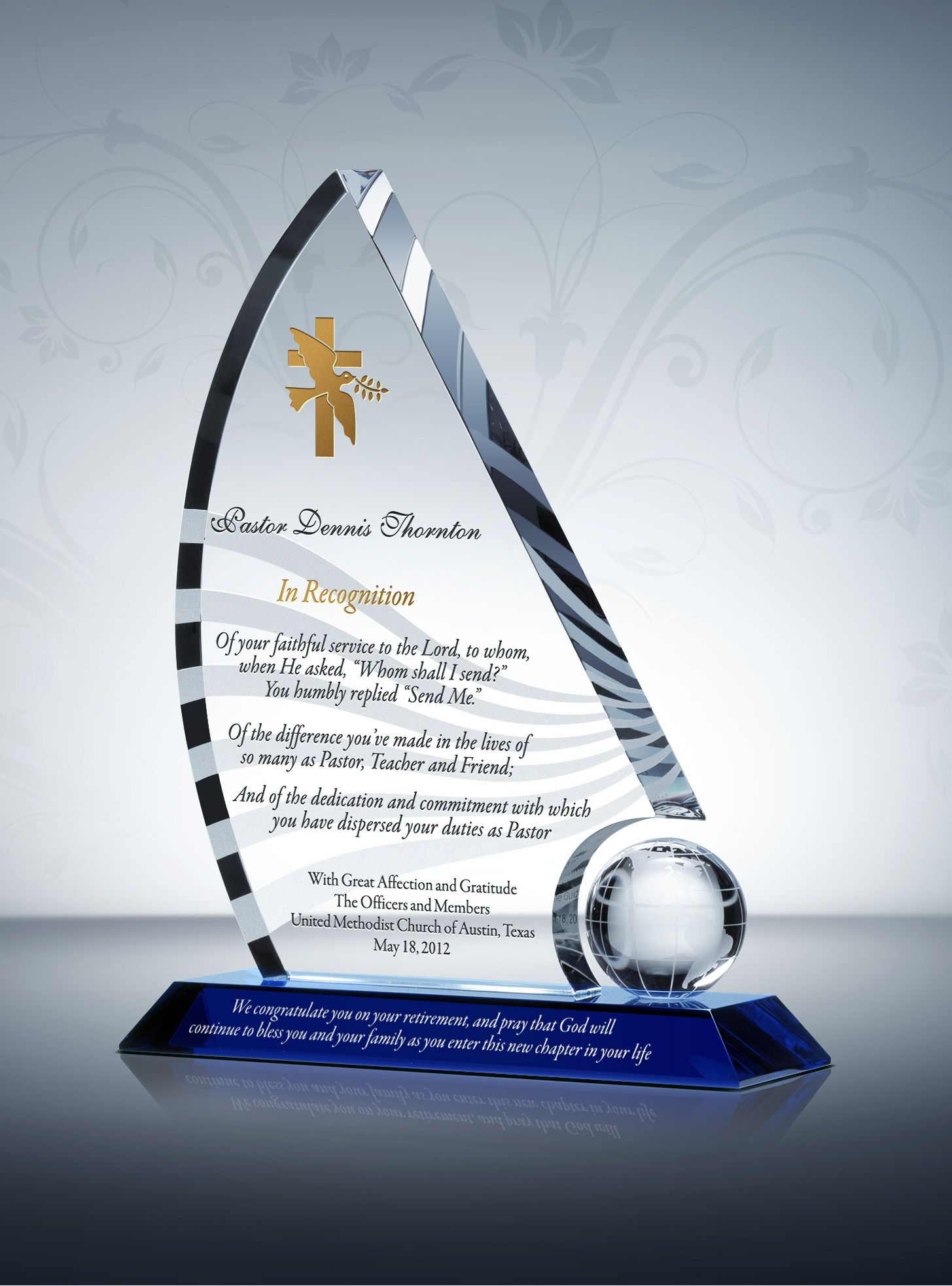 Retirement Gift for Pastors/Priests | Pastor Gift Plaques ...