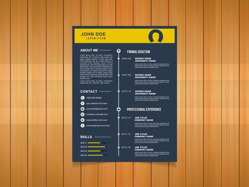 Free timeline resume template for any job seeker free