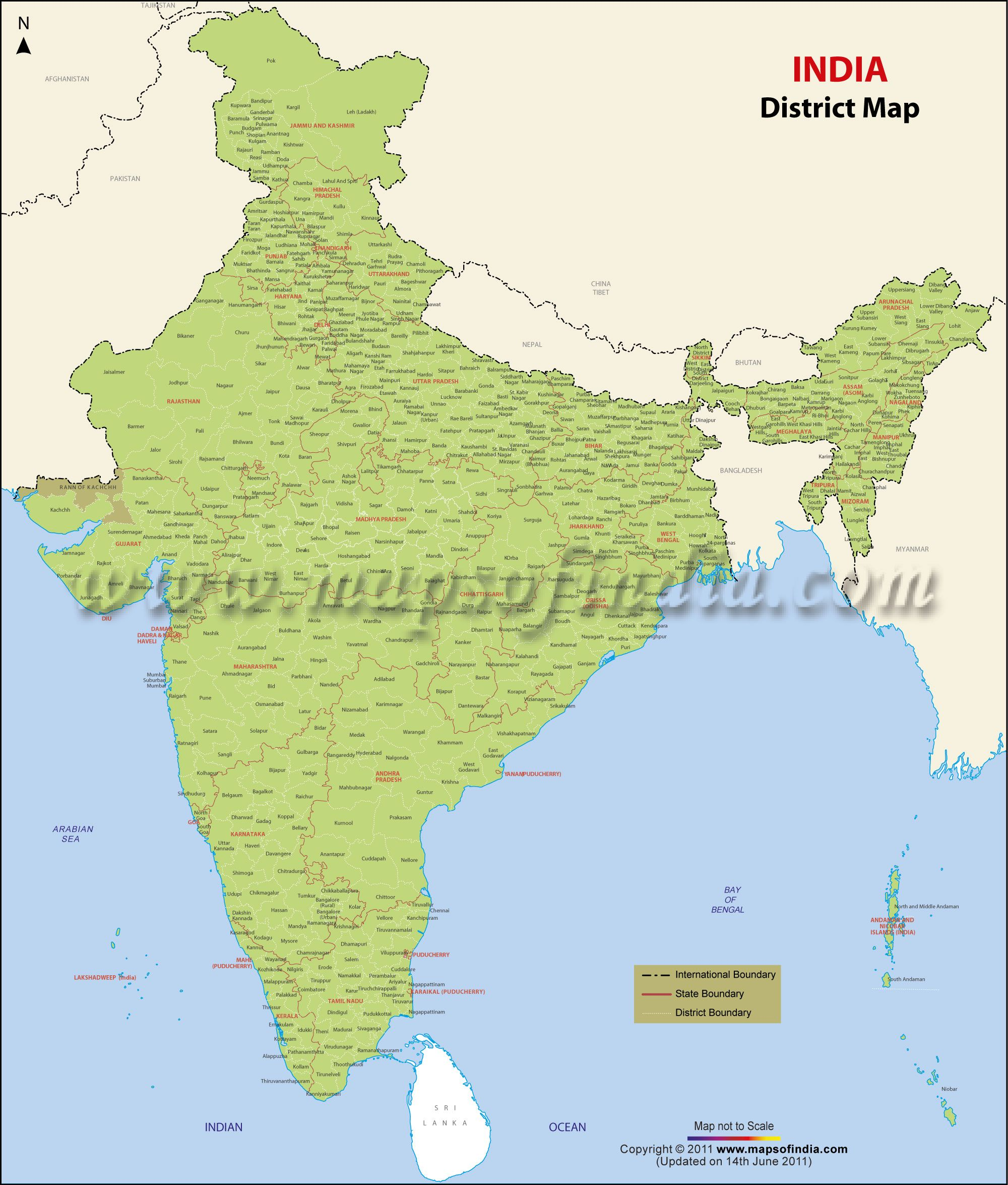Districts Of India India Districts Map India Map Map World Map Wallpaper