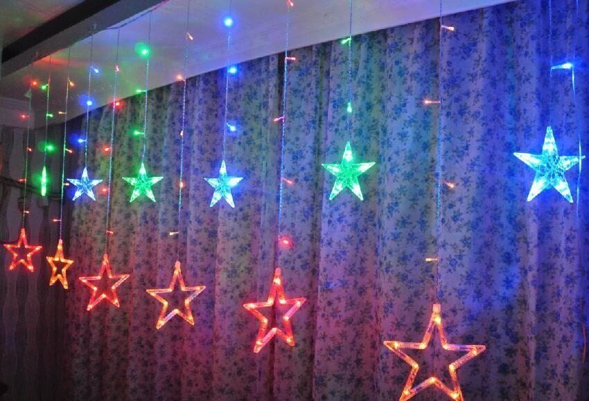Christmas LED Fairy Curtain Lights Outdoor Twinkle Star Decoration