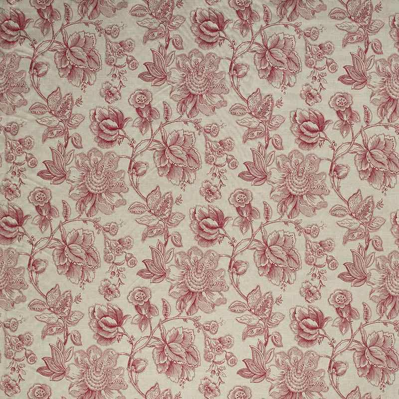 Warwick Fabrics Mandalay Colour Ruby Warwick Fabrics Floral