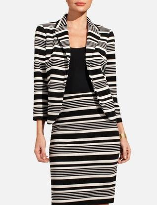 Ponte Variegated Stripe Jacket From Thelimited Com Tops