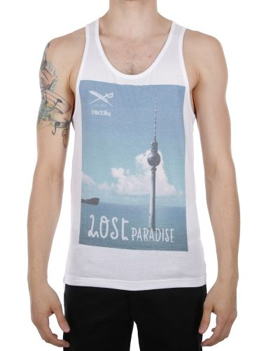 Paralost Tank [white] // IRIEDAILY Spring Summer 2015 Collection! - OUT NOW! // TEES & TANKS - MEN: http://www.iriedaily.de/men-id/men-tees/ // LOOKBOOK: http://www.iriedaily.de/blog/lookbook/iriedaily-spring-summer-2015/ #iriedaily