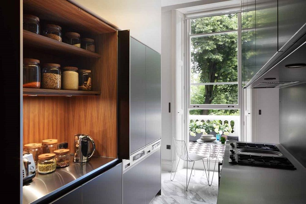 Bulthaup b3s tall unit cocinas pinterest showroom for Bulthaup kitchen cabinets