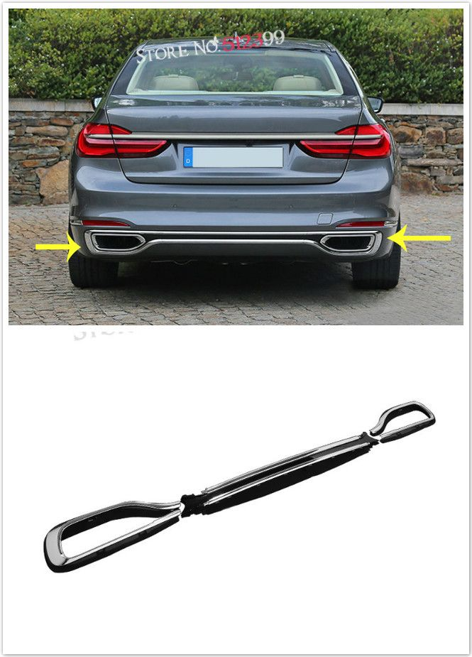 Stainless Steel 3 Exterior Car Rear Bumper Replacement Trim