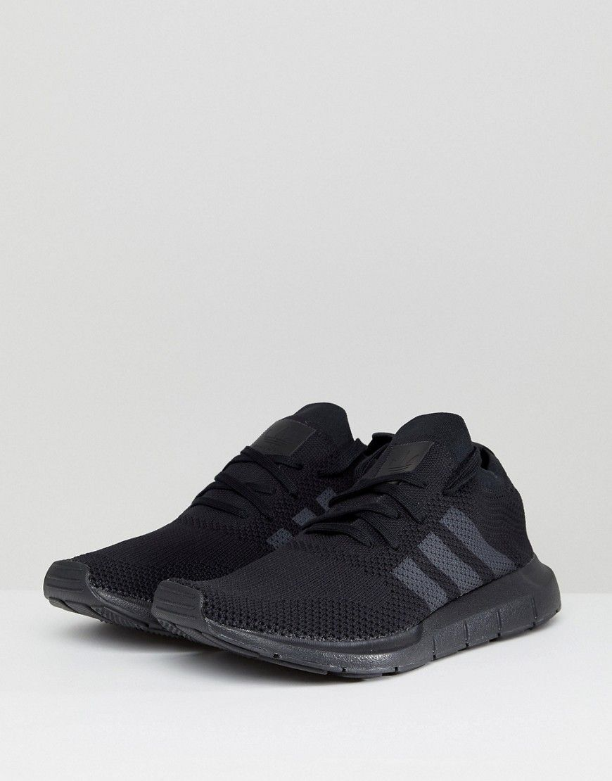 5eab36f8967 adidas Originals Swift Run Primeknit Sneakers In Black CQ2893 - Black
