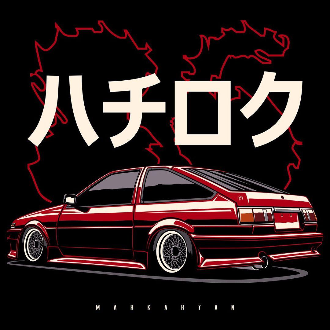 Toyota corolla sprinter trueno ae86 t shirts covers stickers posters