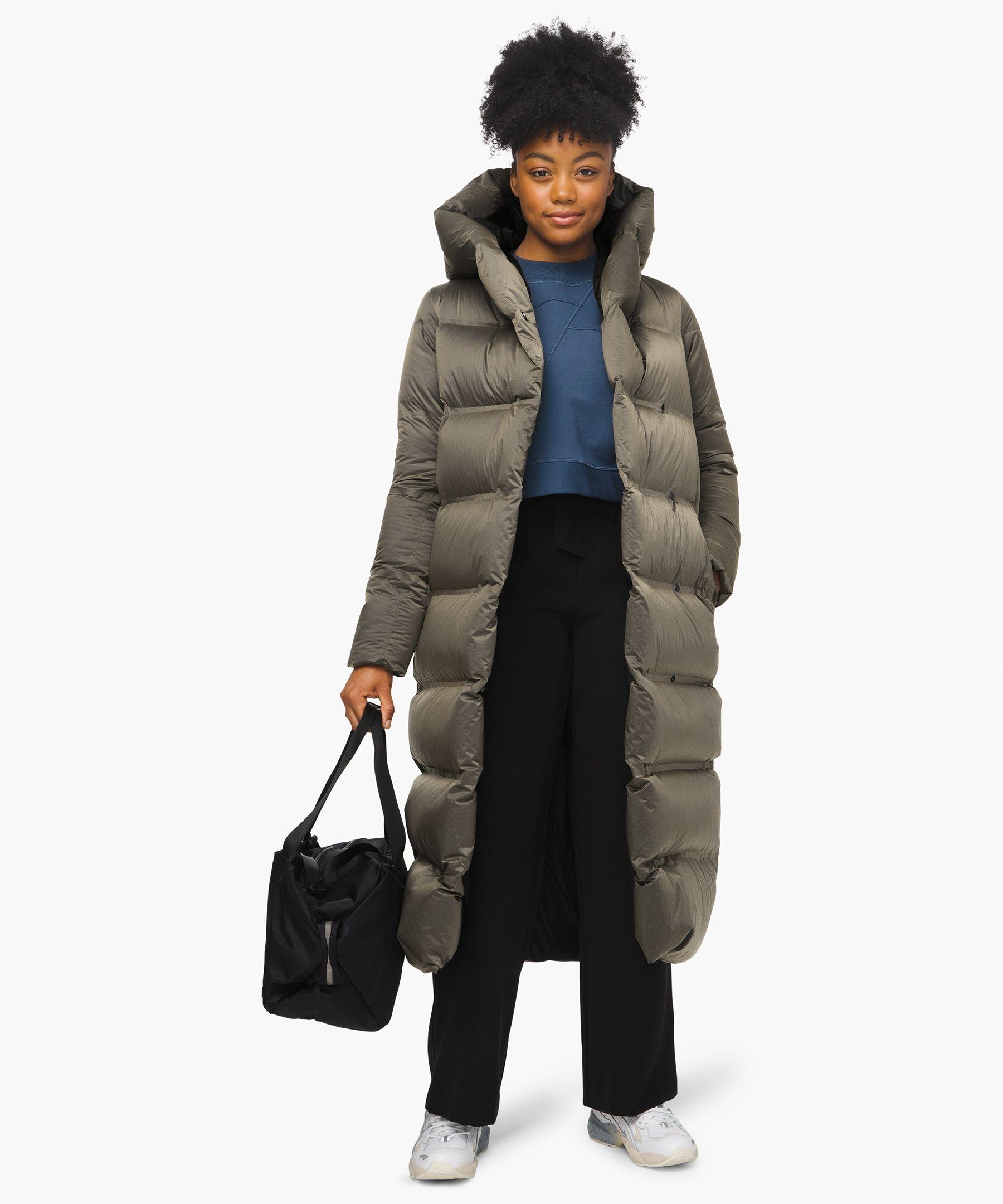 Lululemon Women S Cloudscape Waterproof Wrap Vintage Taupe Size 12 Long Jackets For Women Coats Jackets Women Waterproof Jacket [ 2160 x 1800 Pixel ]