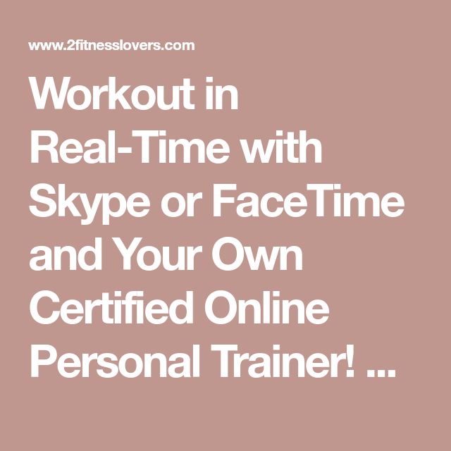 Live Online Personal Training