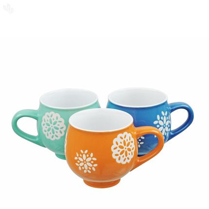 Buy Mugs Assorted 3Piece Set Doilie Rayware Online India