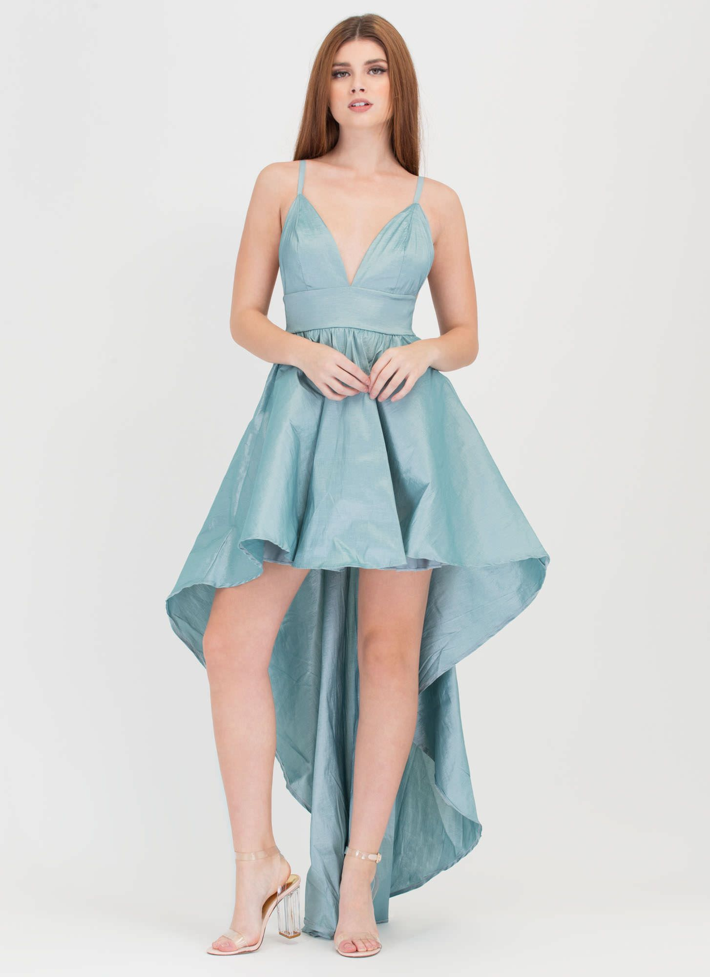 Under The Moonlight High-Low Gown TEAL MINT WINE - GoJane.com | Want ...