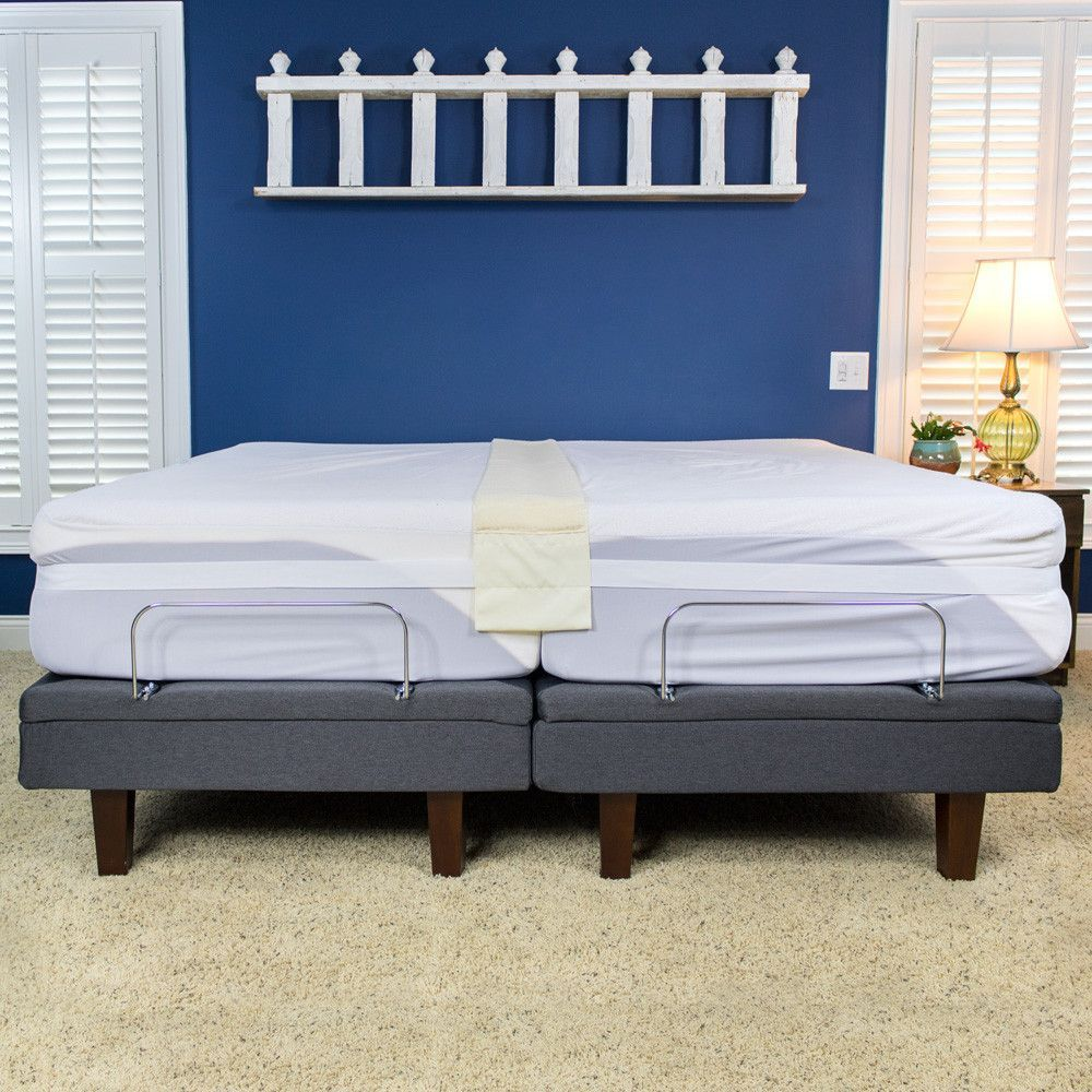 Seconds Bedroom Furniture Easy King Plush Bed Doubler Makes Two Twin Beds Into A King