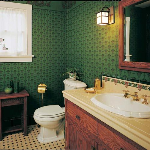 Modest Arts U0026 Crafts Bungalow Bathroom