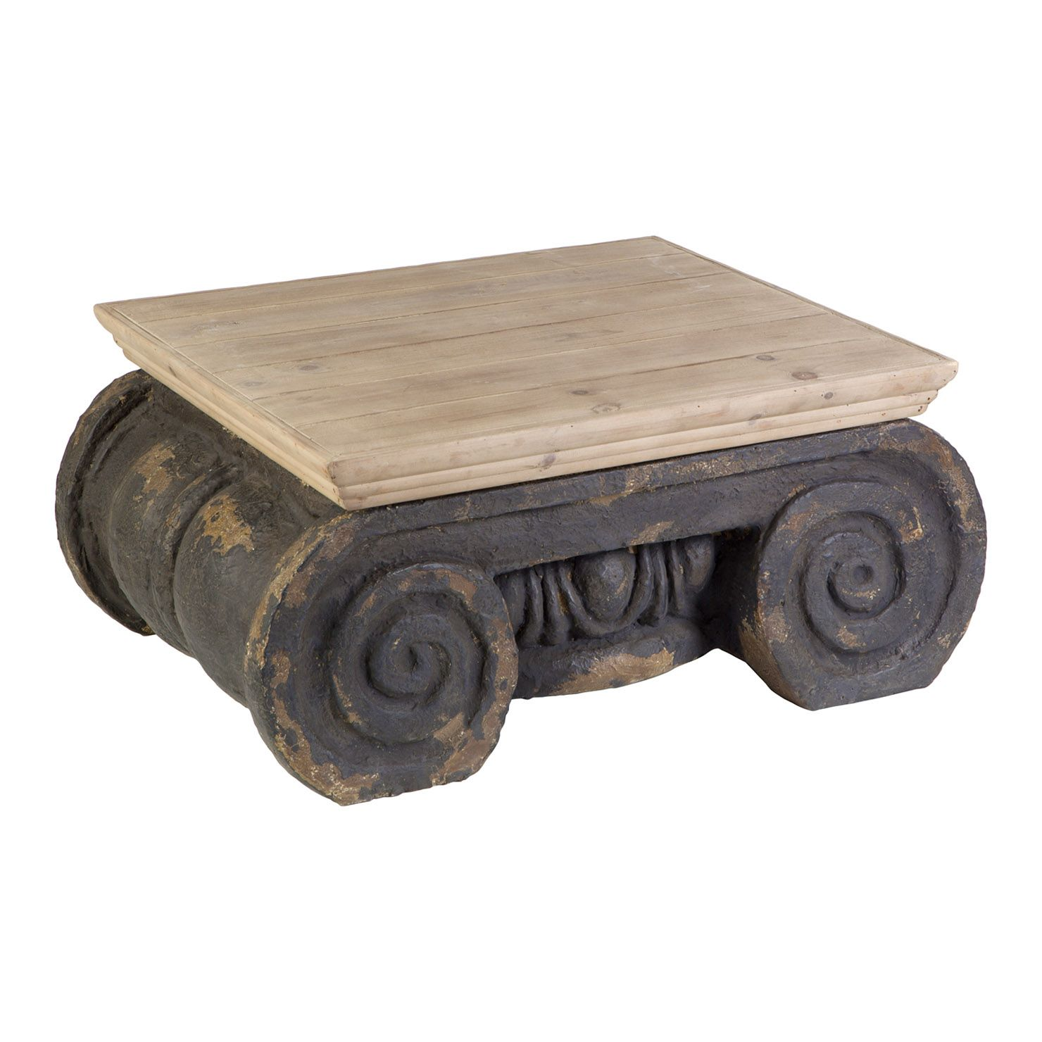 Ornate Coffee Table Natural Brown