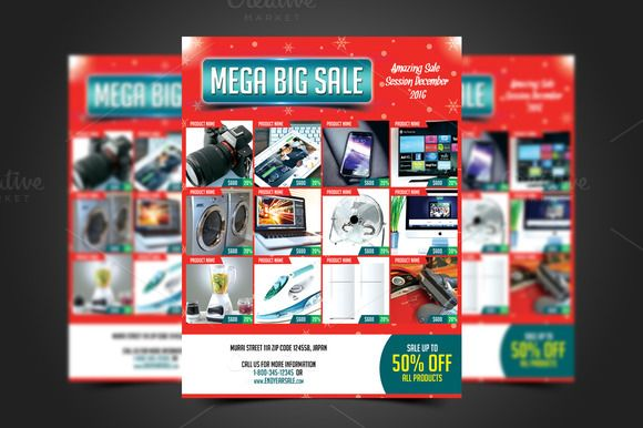 Mega Big Sale Flyer Template by @Graphicsauthor Templates - For Sale Ad Template