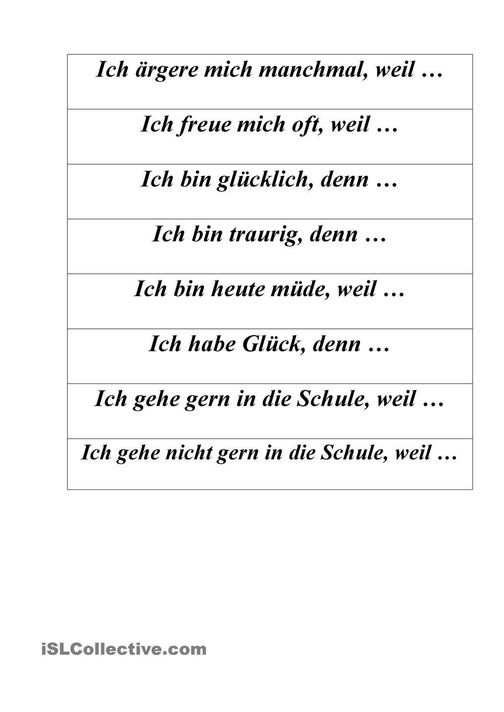 Weil Sätze … | Pinteres…
