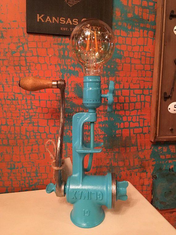 Lampe De Moulin A Viande Vintage Lamp Steampunk Lamp Robot Lamp