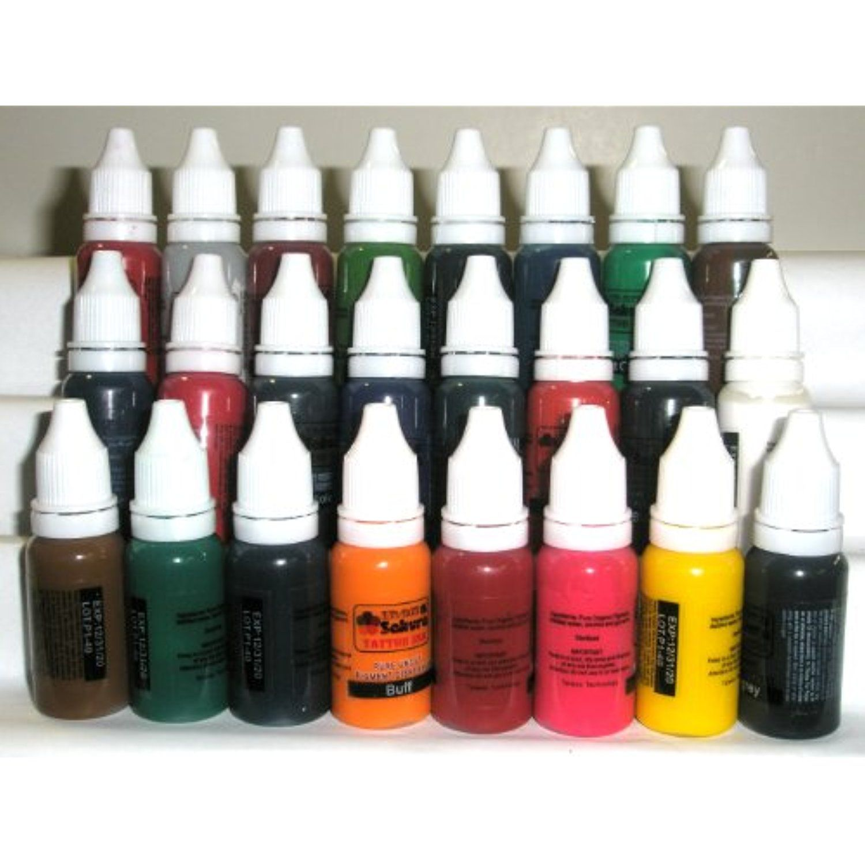 Iron sakura tattoo ink pigment high quality 24 colors 15ml