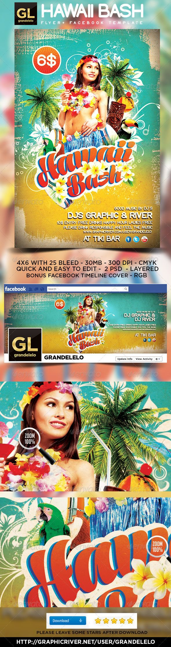 pin by grandelelo design on party flyer template downloads party