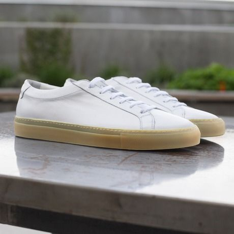 white gum sole low top  sneakers minimalist shoes mens