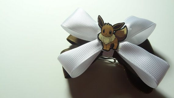 Eevee Hair Bow by spinaltapcola on Etsy, $8.00
