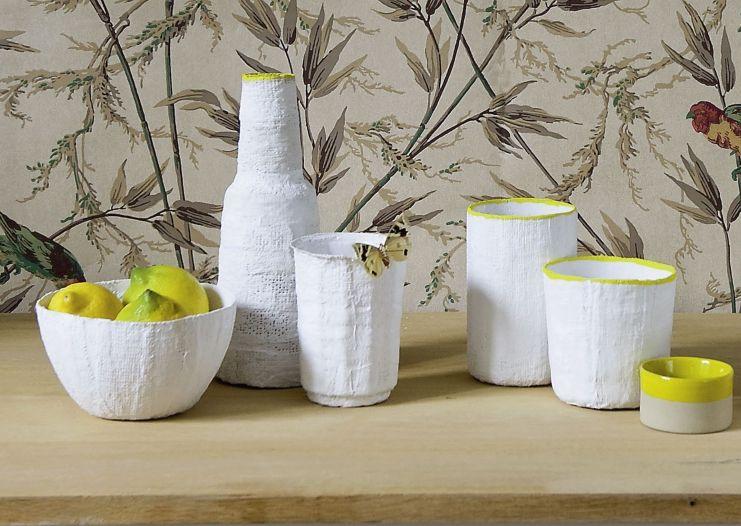 Decorare i barattoli e i vasi di vetro ricoperti di garza - Decorare vasi di vetro ...