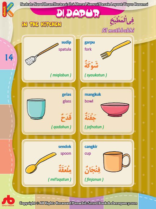 Barang Di Dapur Dalam Bahasa Arab Brad Erva Doce Info