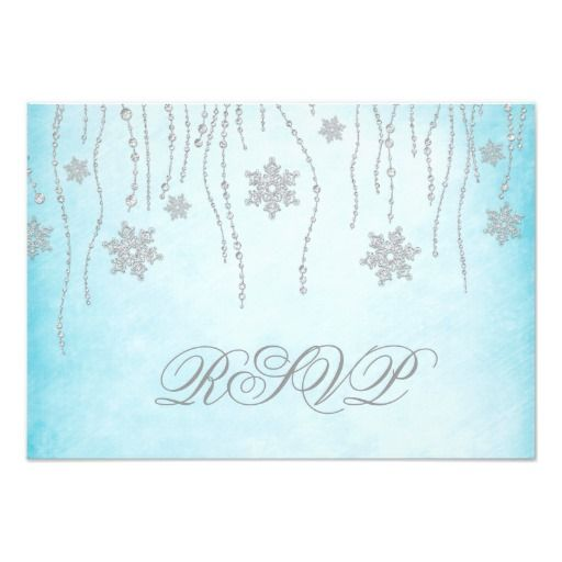 This Deals Winter Wonderland Diamond Snowflakes RSVP Card today price drop and special promotion. Get The best buy