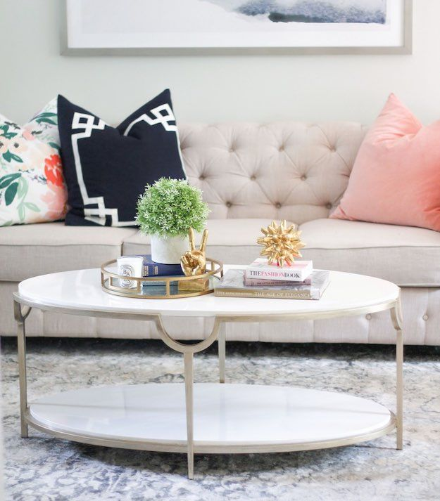 Oval Narrow Coffee Table 15 Narrow Coffee Table Ideas For Small