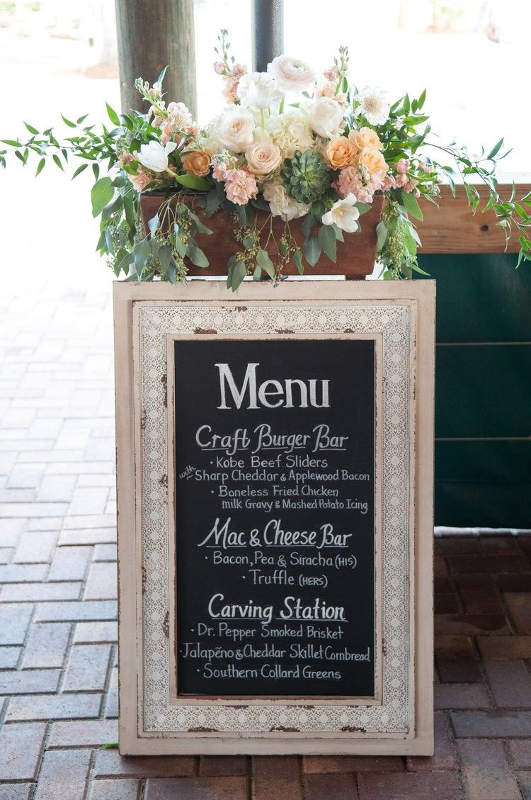 Rustic chalk board menu craft burger bar hisuhers macncheese