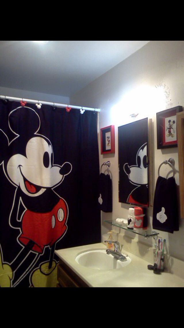 Diy Mickey Mouse Bathroom Ideas Bano De Mickey Mouse Bano De Mickey Habitaciones Disney