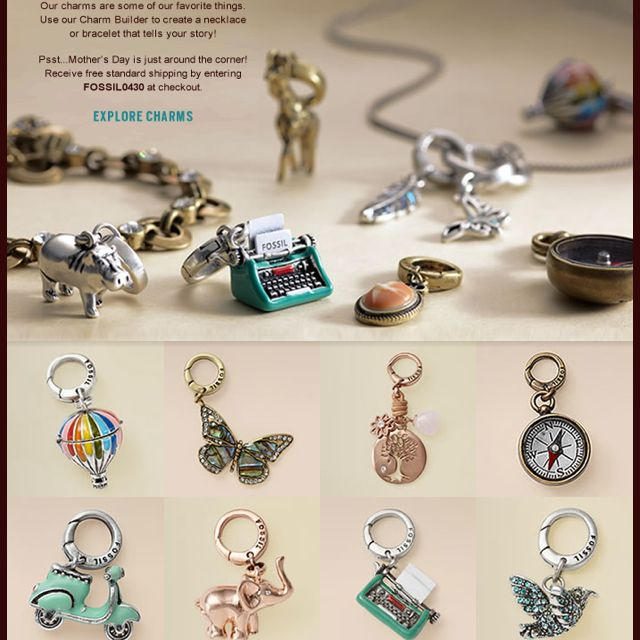 can t wait to get mine started fossil charm bracelet