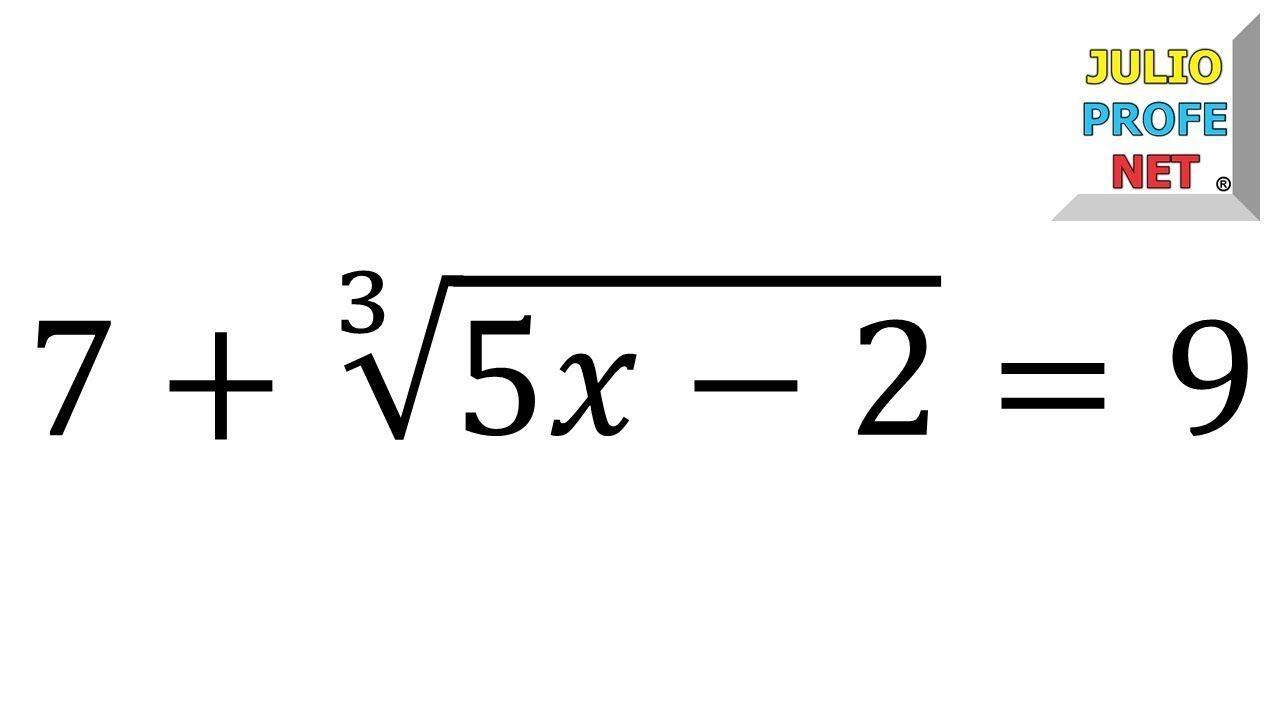 Ecuaciones Con Radicales Ejercicio 1 Ecuaciones Curiosidades Matematicas Ecuaciones Con Radicales