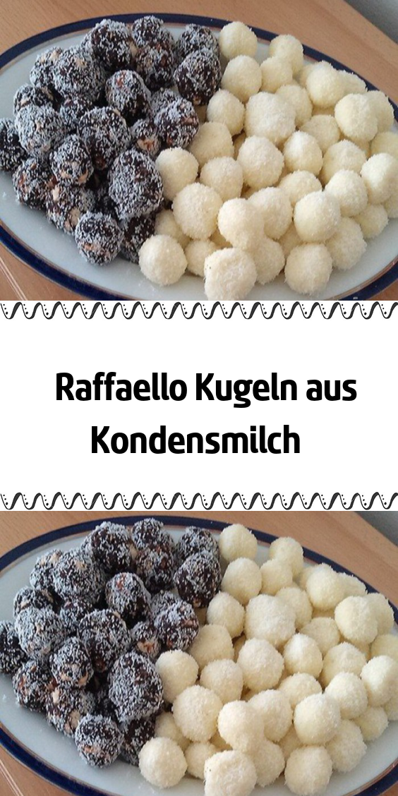 Photo of Raffaello balls of condensed milk