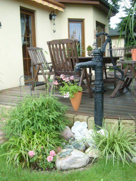 Deko Draussen Landhaus Wasserpumpe Garten Vintage Gartendekoration Brunnen Garten
