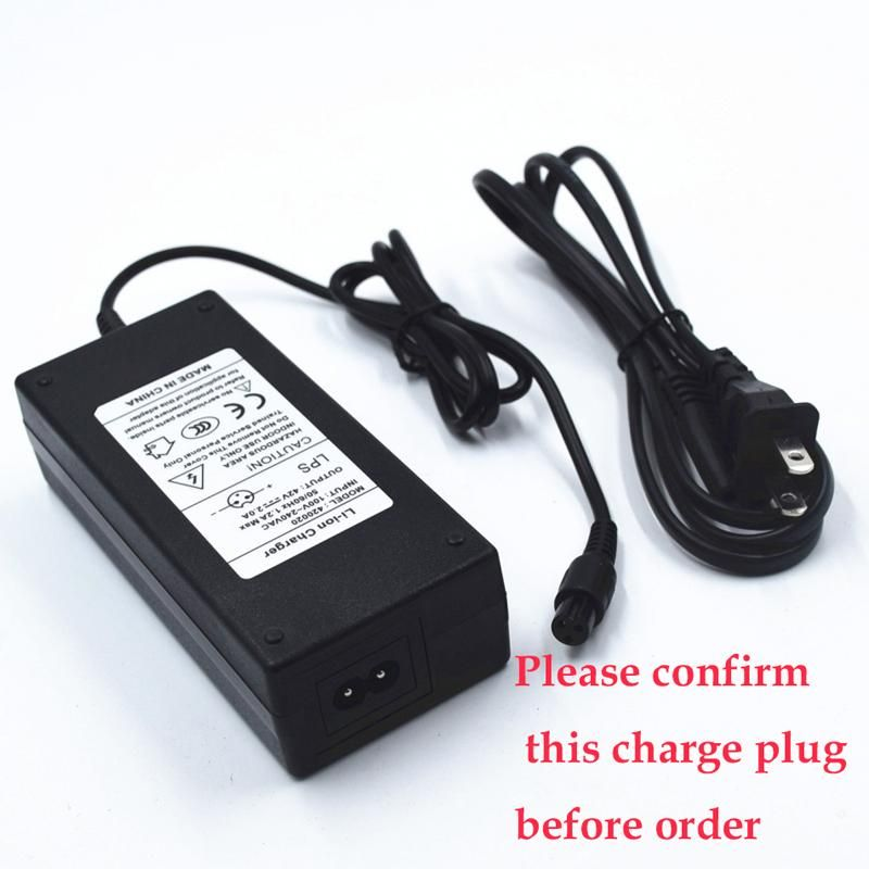 UL Certified 42V 2A Battery Charger Adapter For 2 Wheel Hoverboard Scooter