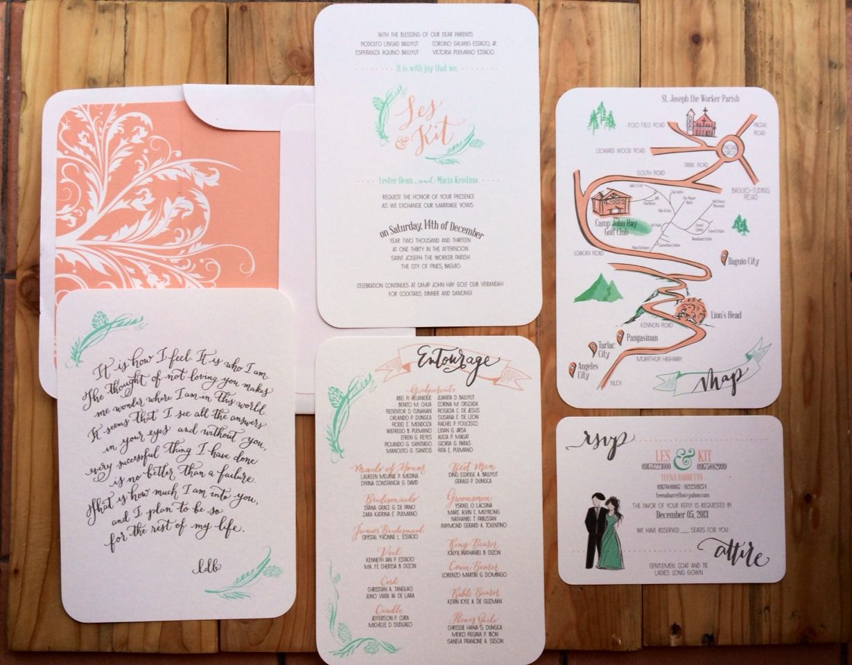 Lester and Kit | Floral invitation, Wedding suite and Invitation paper