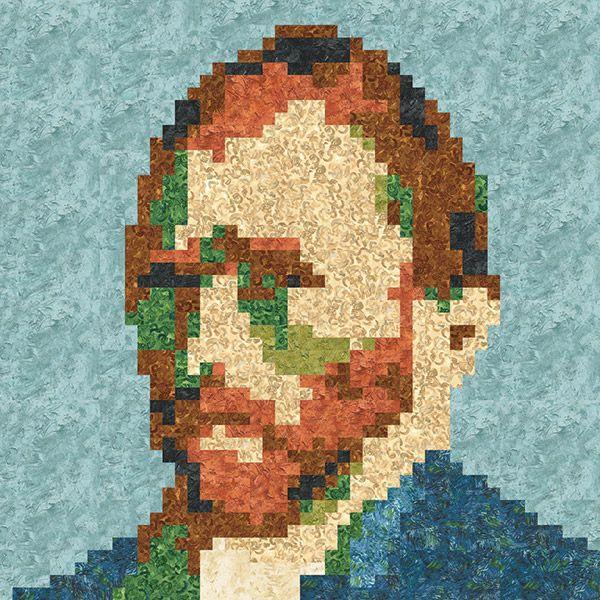 Free Pattern Vincent Van Gogh Pixel Quilt 48 X 48