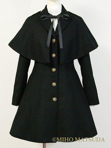 Miho Matsuda Ronny coat & cloak combination #kodona #lolita