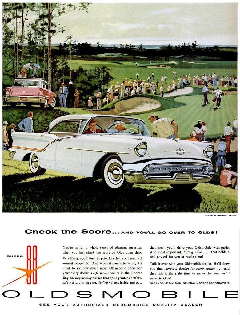 1957 Oldsmobile Super 88 Holiday Sedan | Oldsmobile: 1956 & 1957 ...
