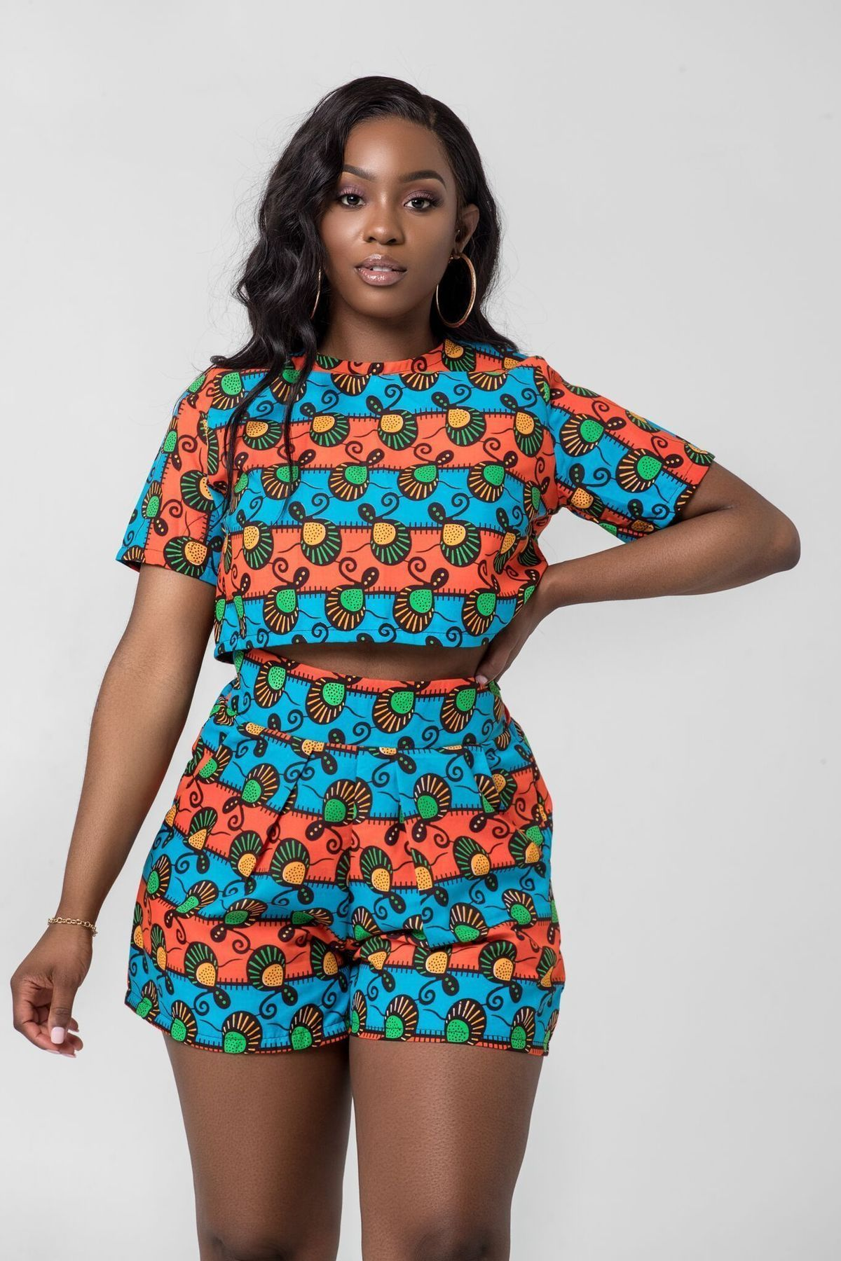 Ramatu African Print Crop Top – Grass-fields #africanprintdresses