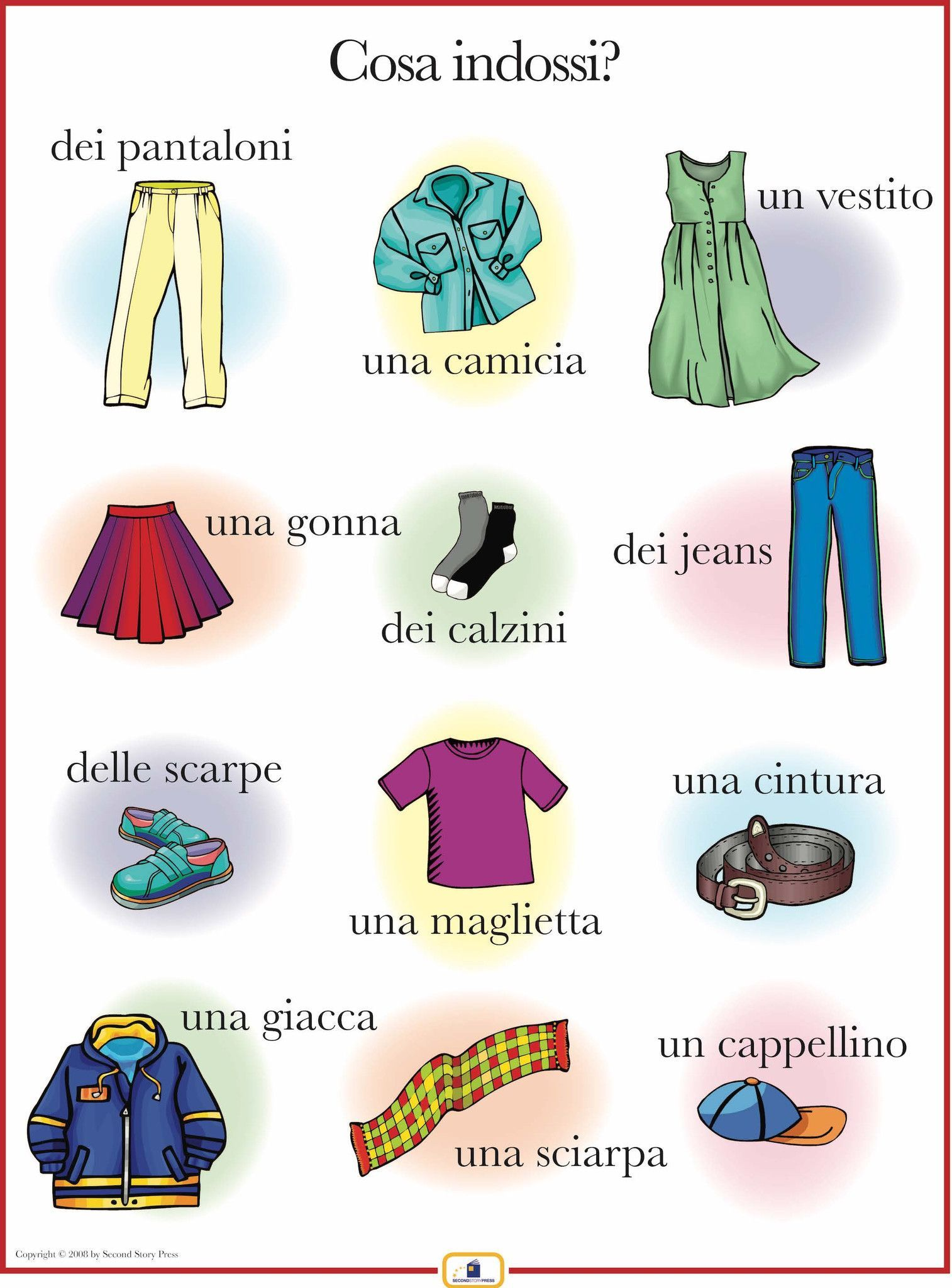 Introduce Articles Of Clothing With This Colorful 18 X 24