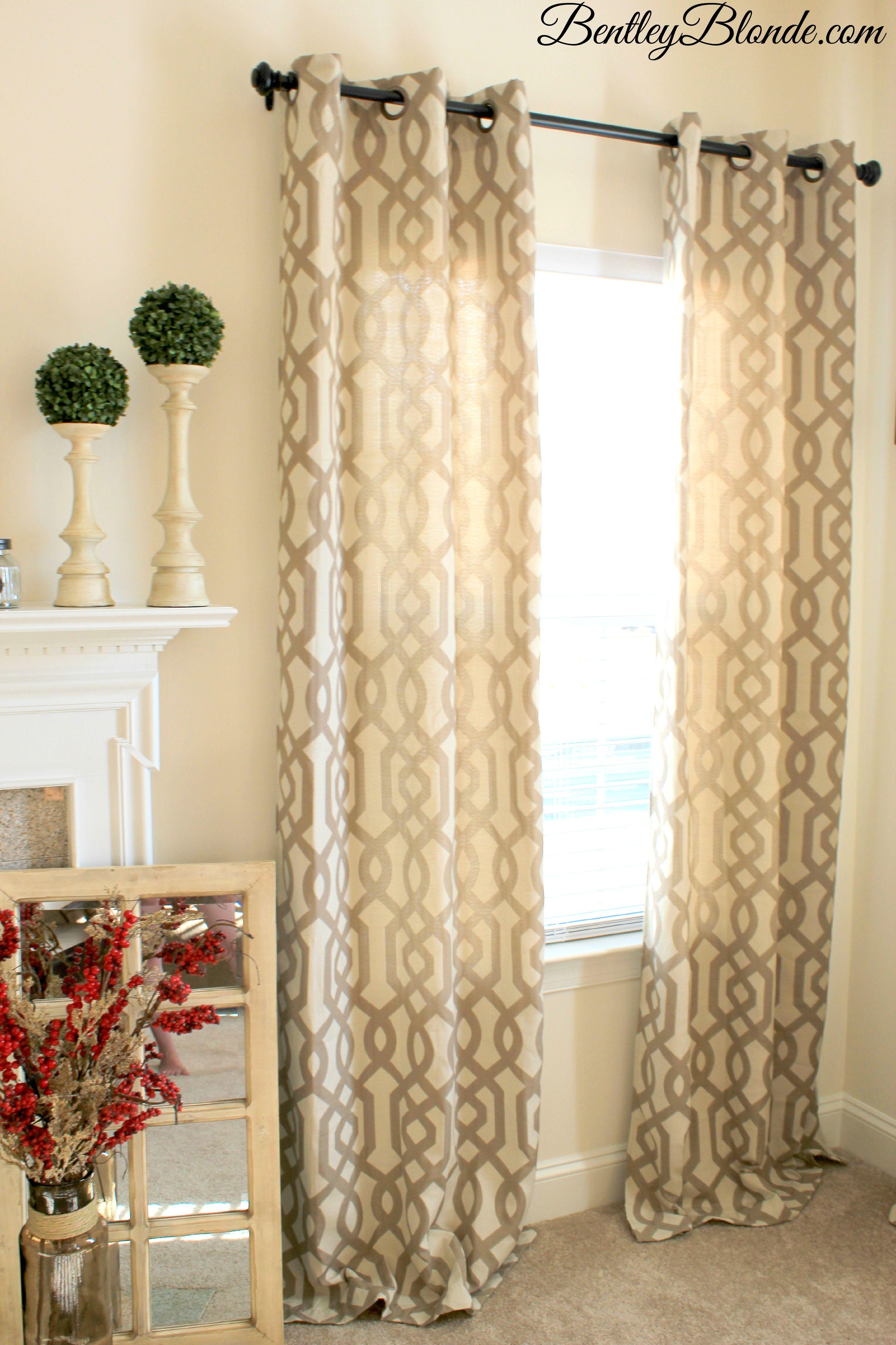 Kirklands Gatehill Curtains Taupe 95 Inch | BentleyBlonde