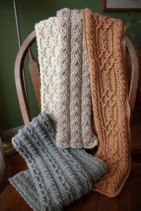 Gama de la montaña bufandas Crochet patrón juego por CrochetGarden ...