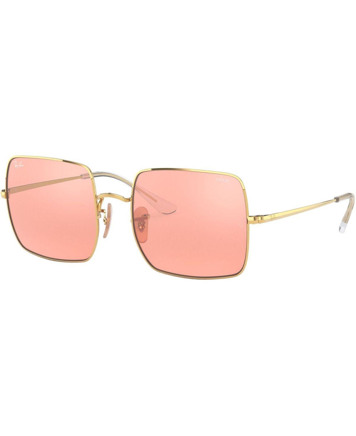 Ray Ban Sunglasses Rb197154 Hzp Shiny Gold Photo Pink Mirror Grey Rectangle Sunglasses Rectangular Sunglasses Sunglasses