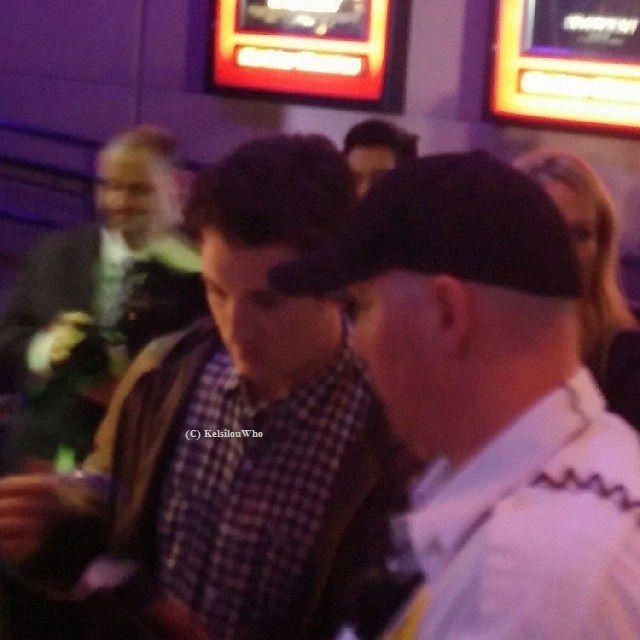Miles Teller signing autographs for fans - Tempe, AZ - Divergent Tour