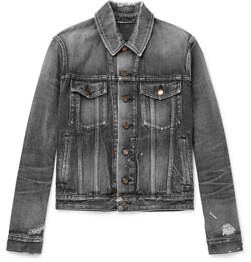Saint Laurent Denim Jacket Denim Jacket Grey Denim Jacket Jackets [ 1002 x 960 Pixel ]