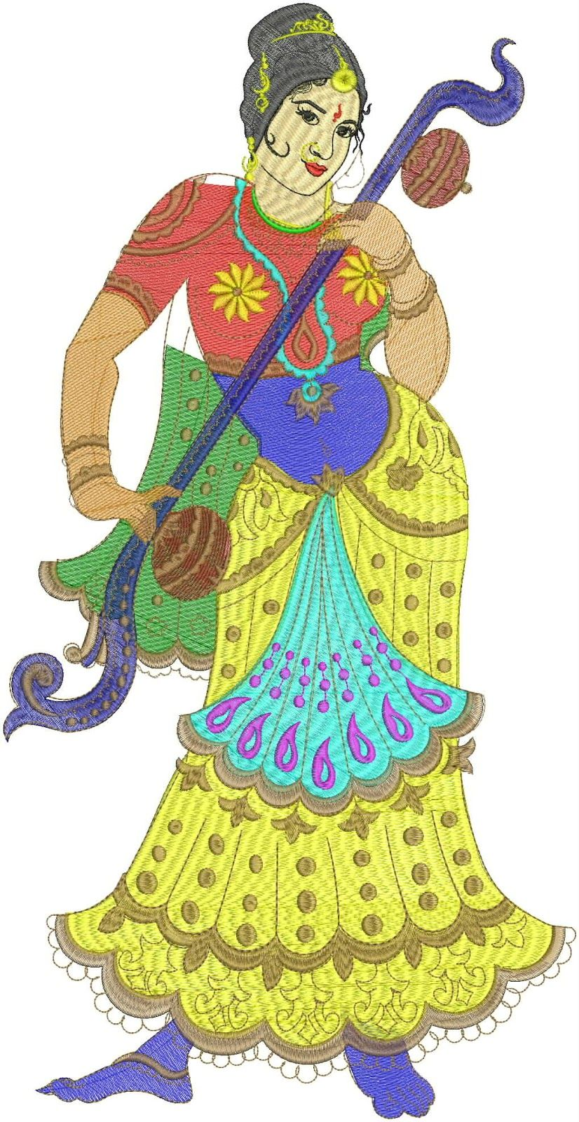 The Embroidery Designs Is The Special Design Of Live Figure Of